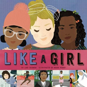 Book Cover: Portraits of 3 diverse girls and 5 Women who are featured in the book.