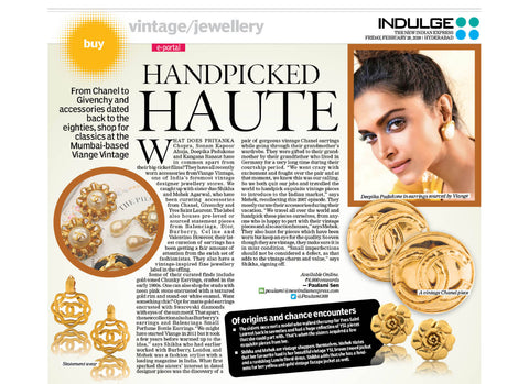 Viange featured in Indulge - The New Indian Express, Hyderabad.
