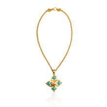 Load image into Gallery viewer, Vintage Chanel Turquoise CC Necklace