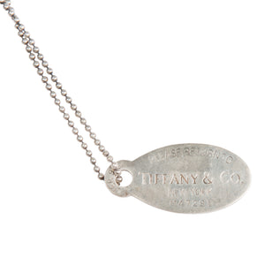 Vintage Tiffany 'Please Return To' Necklace
