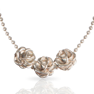 Vintage Kenzo Three Roses Necklace