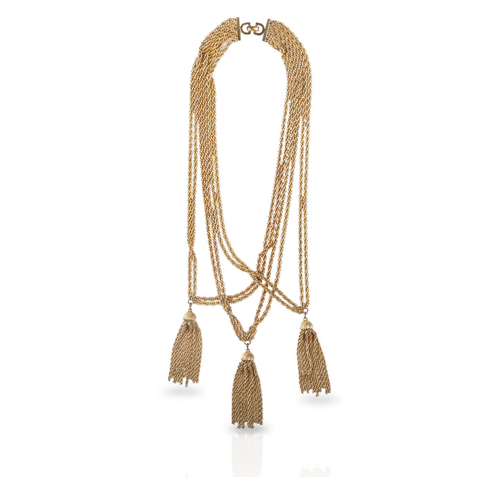 Vintage Christian Dior Tassel Necklace