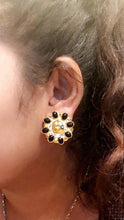 Load image into Gallery viewer, Vintage Nina Ricci Black Onyx Earrings
