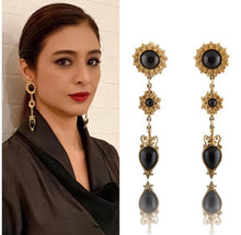 Load image into Gallery viewer, Vintage Butler & Wilson Black Dangle Earrings
