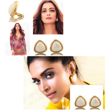 Load image into Gallery viewer, Vintage Givenchy White Cabochon Earrings