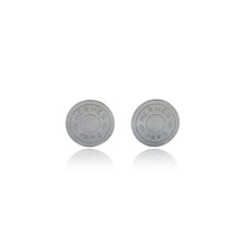 Load image into Gallery viewer, Vintage Hermès Silver Clou De Selle Logo Earrings