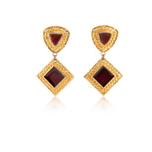 Load image into Gallery viewer, Vintage Edouard Rambaud Scarlet Earrings