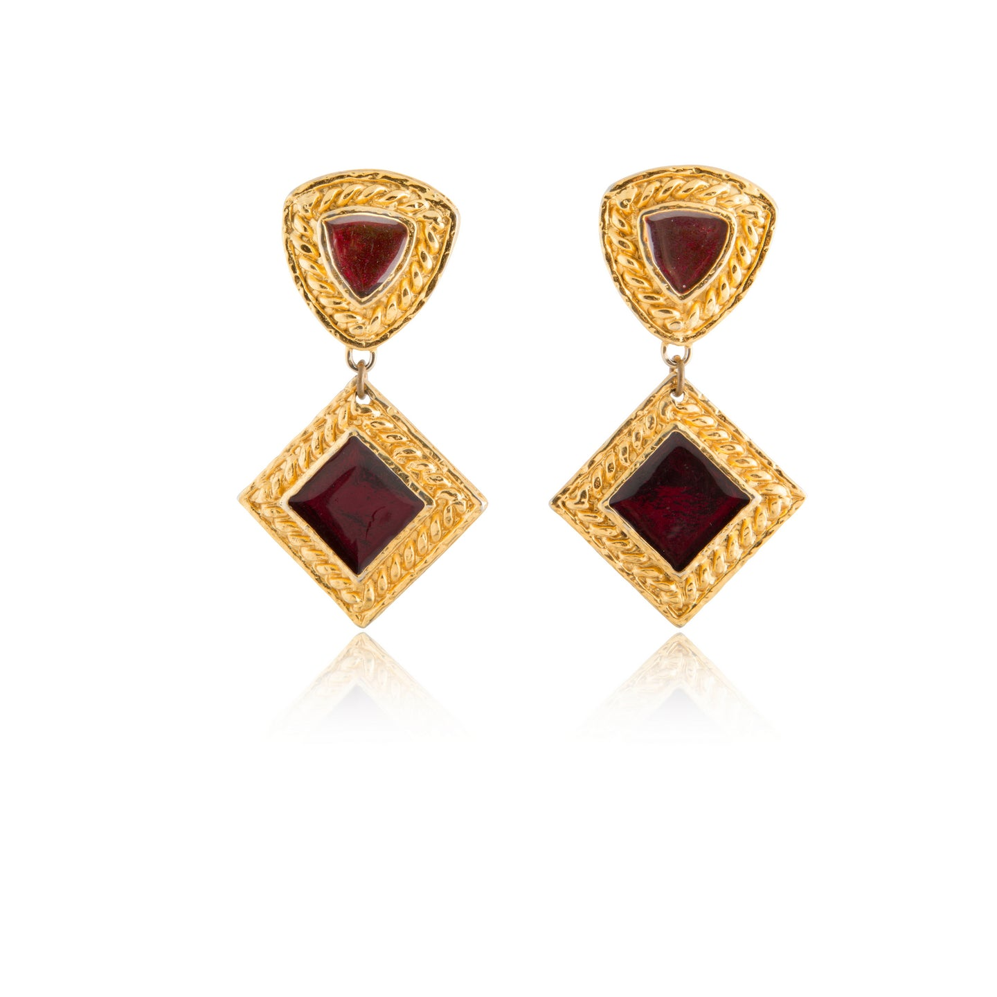 Vintage Edouard Rambaud Scarlet Earrings