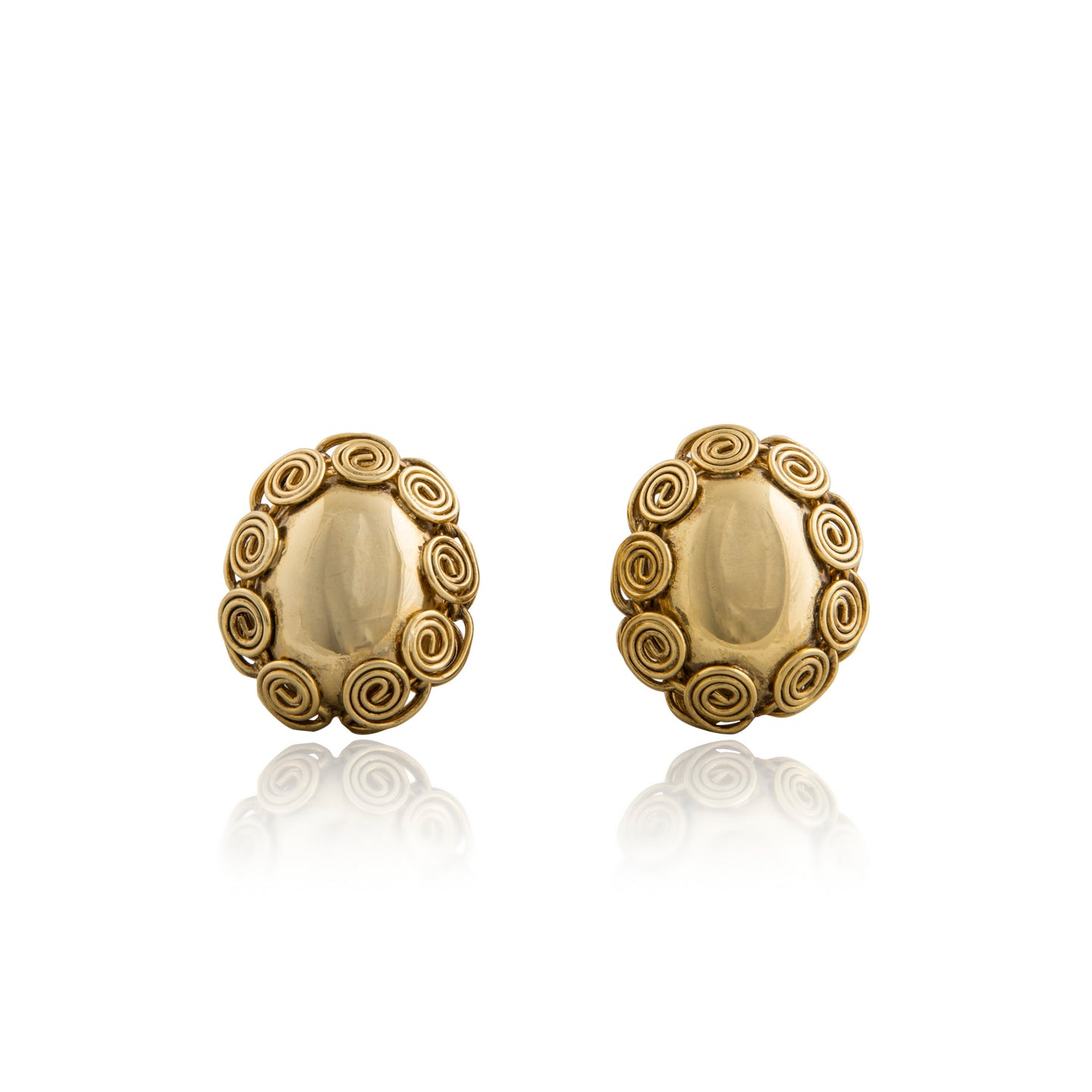 Vintage Coiled Gold Earrings