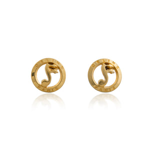Vintage Celine Music Sign Earrings