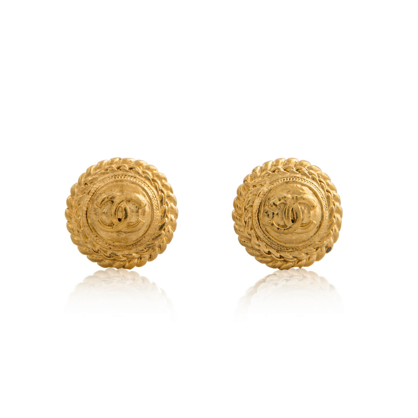 Vintage Chanel Traditional CC Earrings