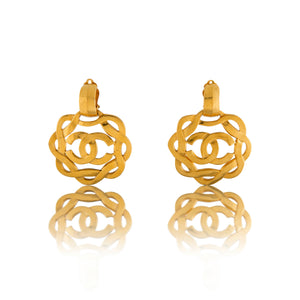 Vintage Chanel Statement CC Earrings