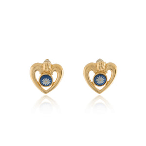 Vintage Wedgwood Heart Earrings