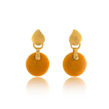 Load image into Gallery viewer, Vintage Chanel Yellow Bakelite CC Dangle Earrings