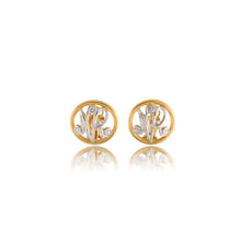 Load image into Gallery viewer, Vintage Nina Ricci gold/silvertoned Logo Earrings