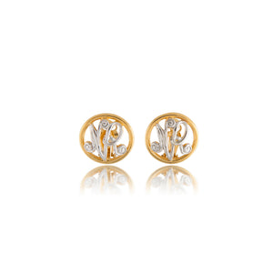 Vintage Nina Ricci gold/silvertoned Logo Earrings