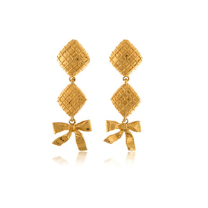 Vintage Chanel Ribbon Earrings