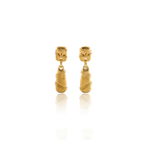 Vintage Chanel CC Rope Earrings
