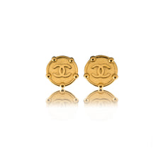 Load image into Gallery viewer, Vintage Chanel Chunky Coin CC Earrings