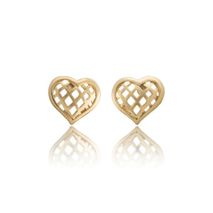 Vintage Rochas Heart Earrings