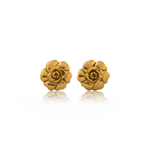 Vintage Chanel CC Flower Earrings