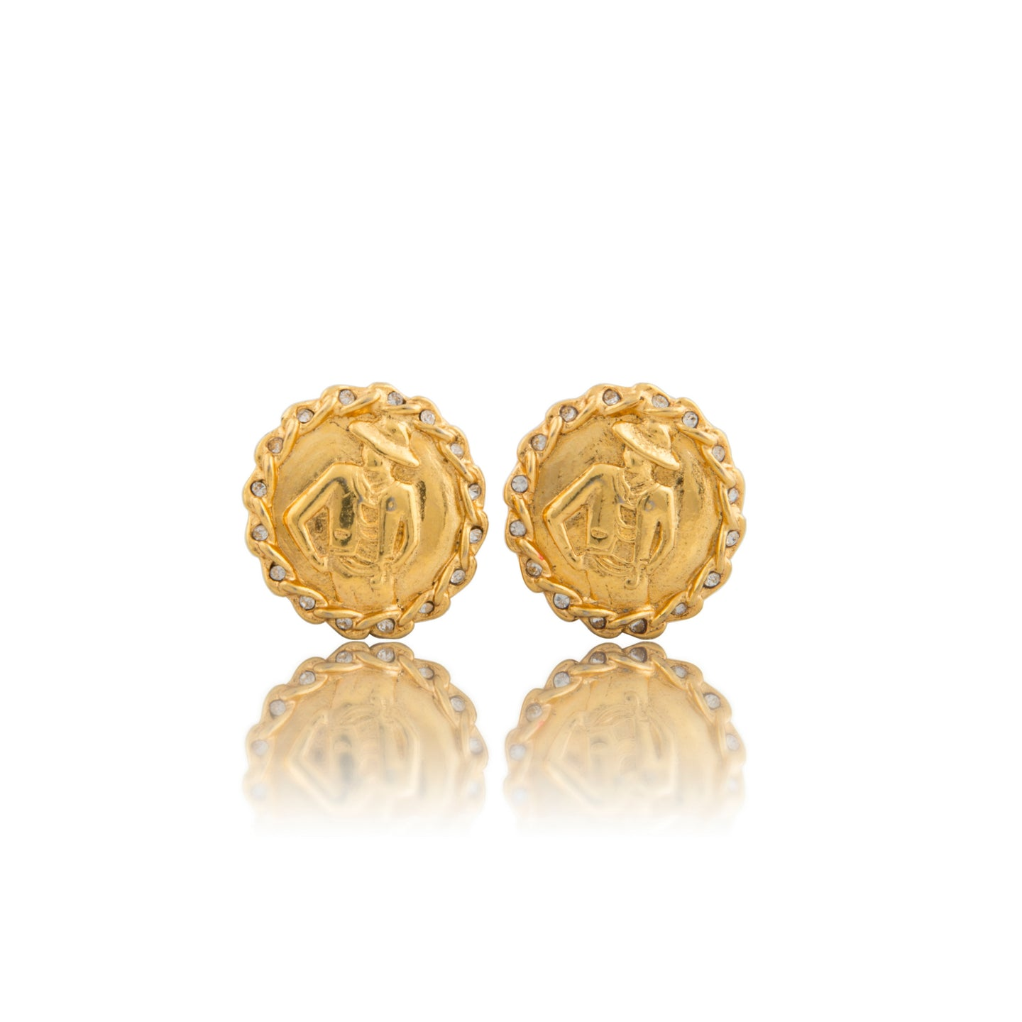 Vintage Chanel Madame Earrings