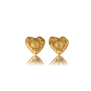 Vintage Christain Lacroix Heart Earrings