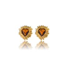 Load image into Gallery viewer, Vintage Yves Saint Laurent Heart Earrings