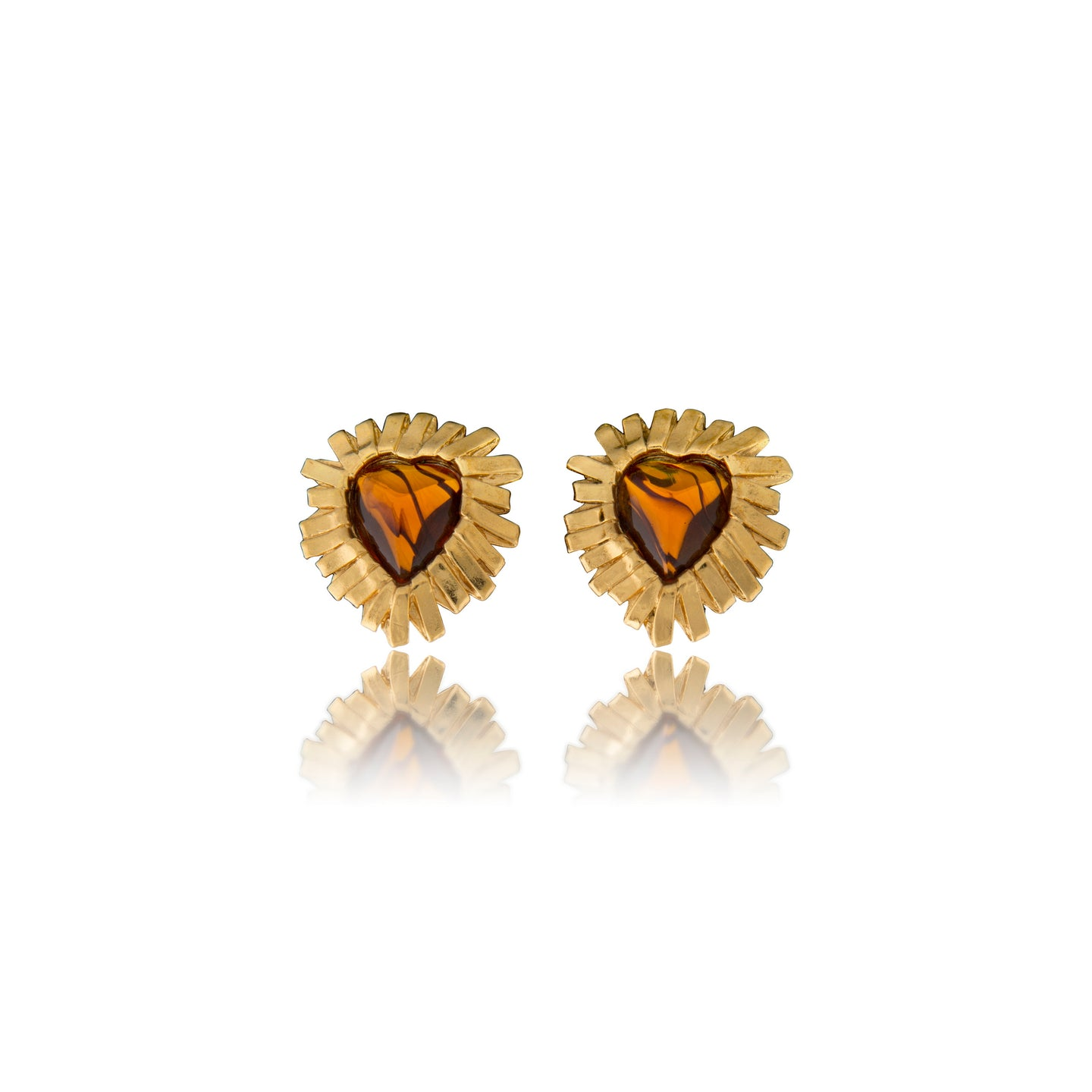 Vintage Yves Saint Laurent Heart Earrings