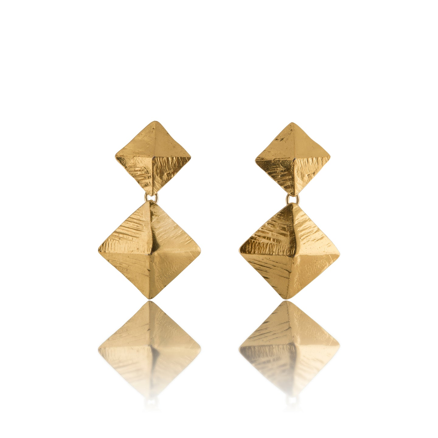 Vintage Yves Saint Laurent Chunky Diamond Shaped Earrings