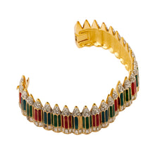 Load image into Gallery viewer, Vintage Swarovski Colourful Pencil Cuff Bracelet