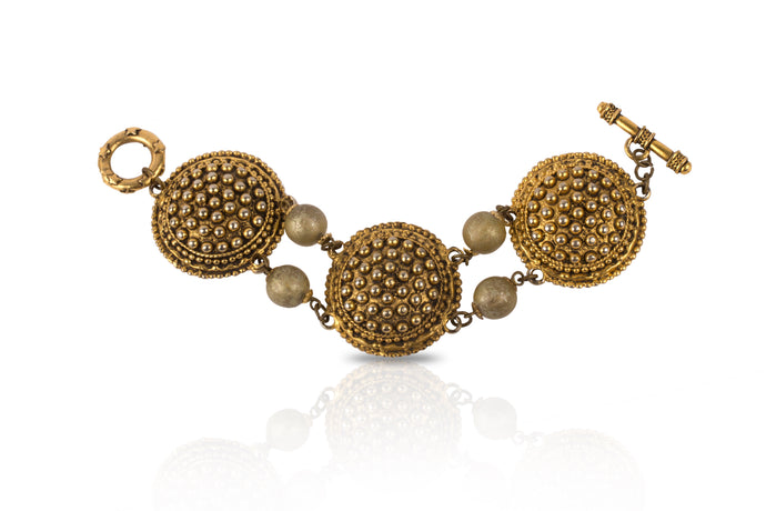 Vintage Antique Gold Dotted Bracelet
