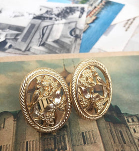 Vintage Christian Dior 'Birds of Paradise' Earrings