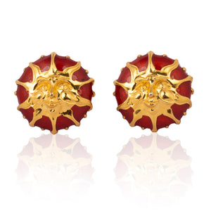 Vintage Fendi Sun Earrings