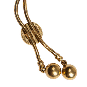 Vintage Agatha Two Ball Lariat Necklace