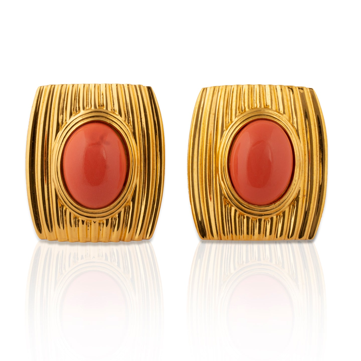 Vintage Greenwich Coral Earrings