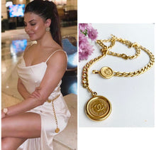 Load image into Gallery viewer, Vintage Chanel CC Two Coin Necklace/Belt.