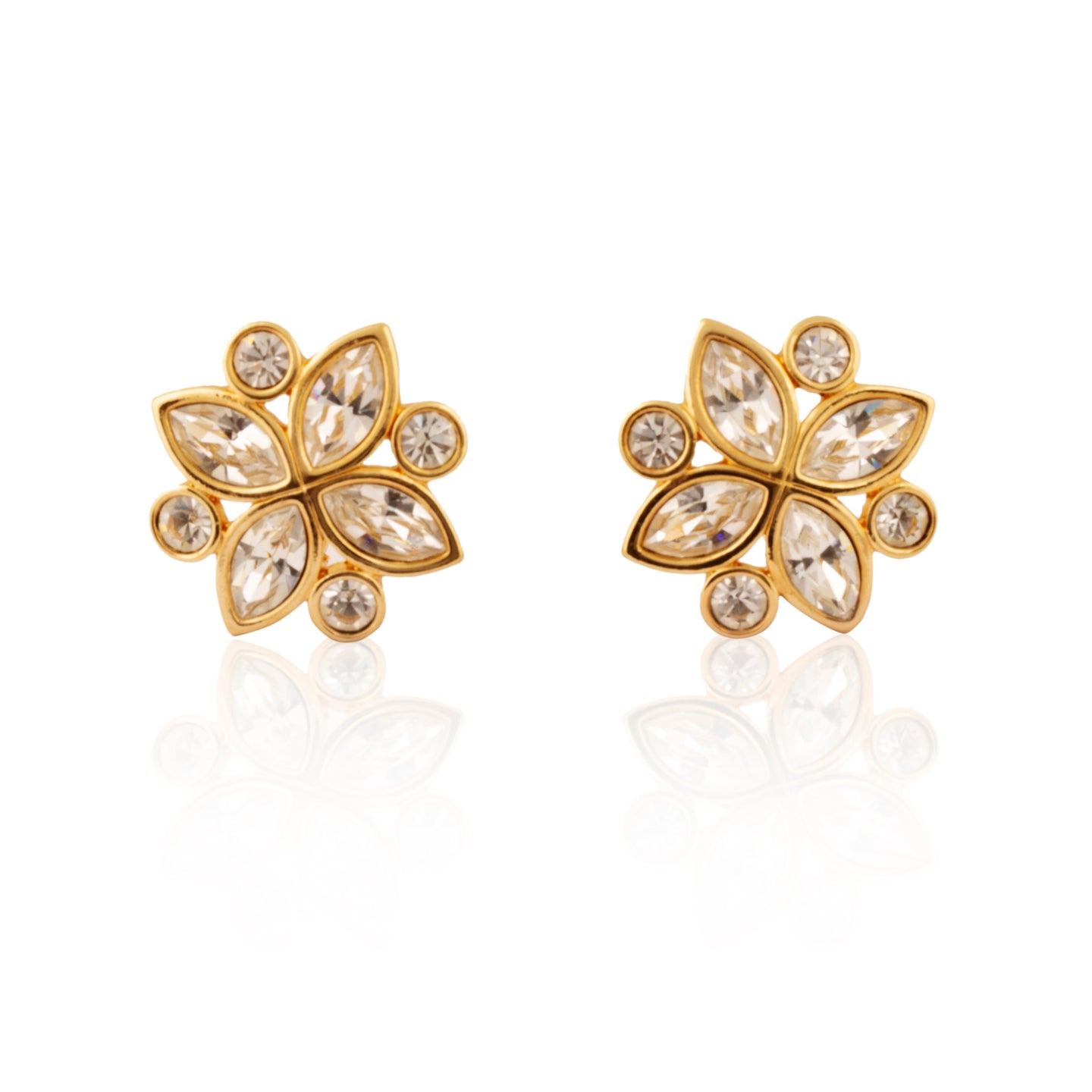Vintage S.A.L  (Swarovski) Flower Earrings