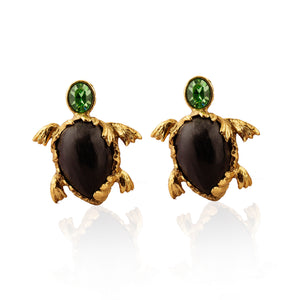 Vintage Yves Saint Laurent Tortoise Earrings