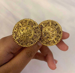 Vintage Chanel 'Chanel' Written CC Earrings