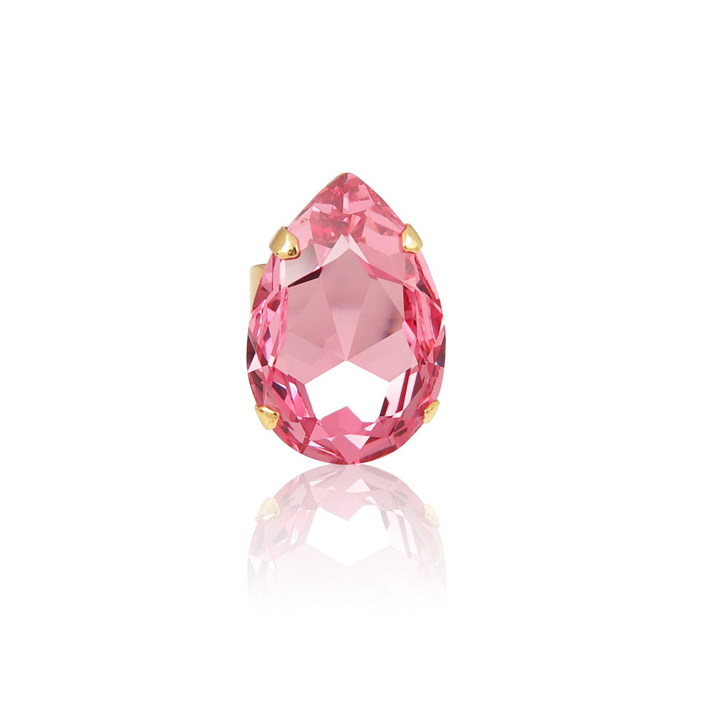 Classic Drop Ring Large in Light Rose Pink
