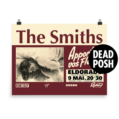 The Smiths - Paris - Eldorado - 1984 - French Concert Poster