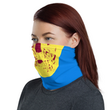 Damien Hirst - Cerulean Blue Pigment Yellow Royal Red Pop Up Skull - Face Mask & Neck Gaiter