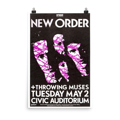 NEW ORDER - PORTLAND - CIVIC AUDITORIUM - 1989 - US Concert Poster
