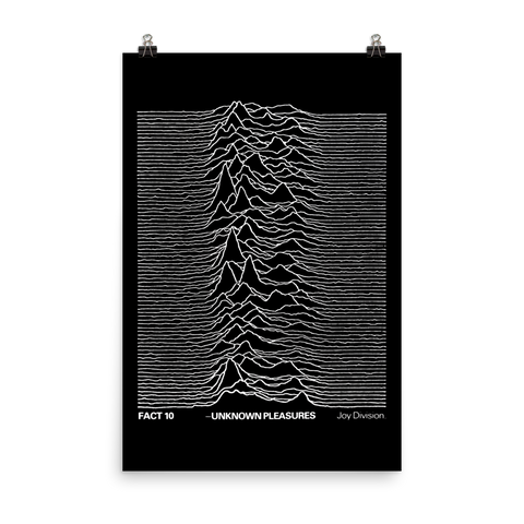 Joy Division - UNKNOWN PLEASURES - 1979 - UK Promo Poster - FAC 10