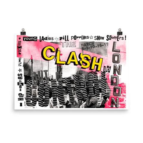 THE CLASH - LONDON - 1984 - OUT OF CONTROL - UK Concert Poster