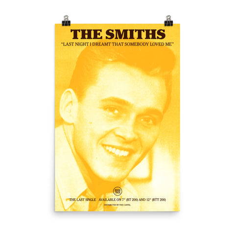 THE SMITHS - LAST NIGHT I DREAMT SOMEBODY LOVED ME - 1987 - Promo Poster