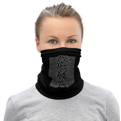 Joy Division - UNKNOWN PLEASURES - Version 2 - Face Mask & Neck Gaiter