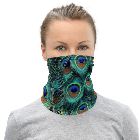 Peacock Feathers Print - Face Mask & Neck Gaiter