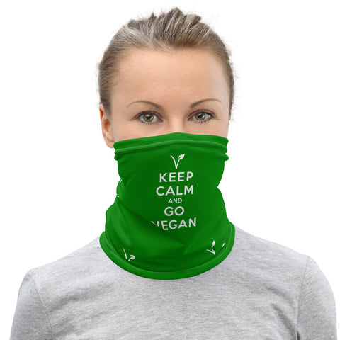 KEEP CALM AND GO VEGAN - Face Mask & Neck Gaiter